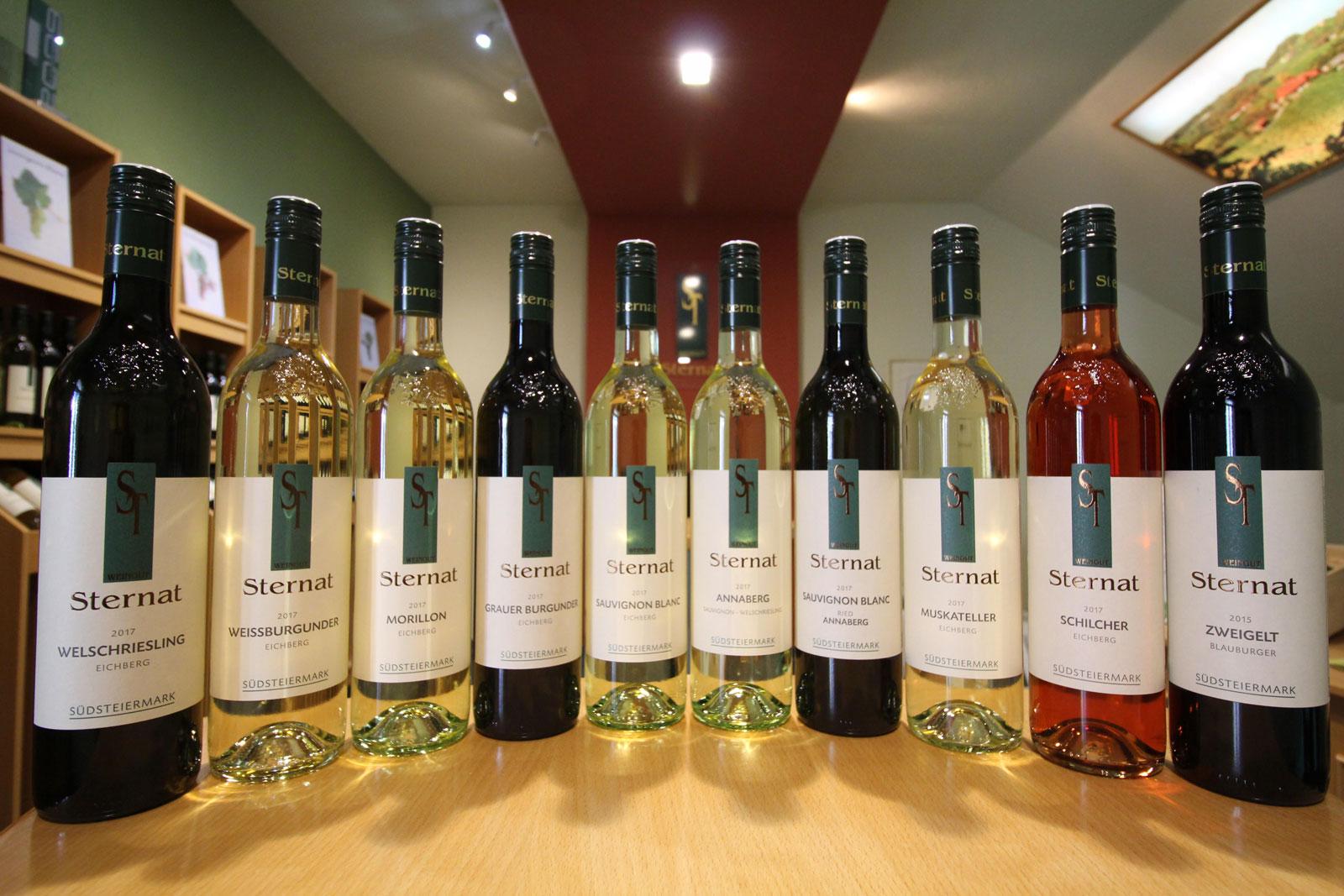 Weinflaschen Sternat